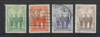 Australia 1940 Imperial Forces Set of 4. SG 196 - 199. Used