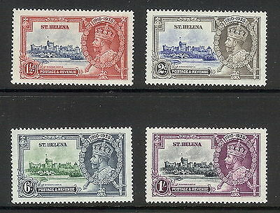 St Helena 1935 Silver Jubilee Set of 4. SG 124 - 127. MLH