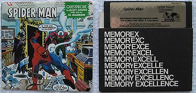 Spider-Man Disk by Green Valley with Clues & Instructions for Commodore 64/128