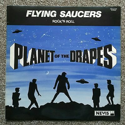 The Flying Saucers - Planet of the Drapes LP - Nevis Records 1976 *teddy boys*