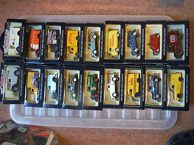 Lledo Vanguard 50's And 60's Collection Job Lot Diecast Boxed Model