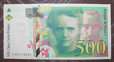 Billet 500 francs Pierre et Marie Curie 1994 (Lot LA187)