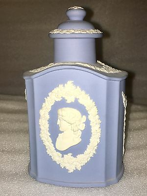 Wedgwood Blue Jasper Tea Caddy Canister Flask