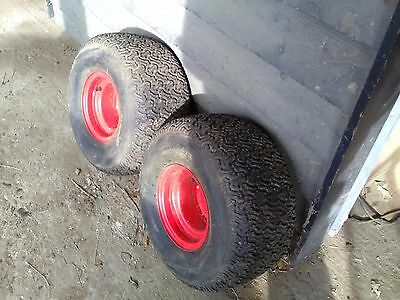 """Countax / Westwood ride on mower set of 4 wheels & tyres 18"""" rears 15"""" fronts"""