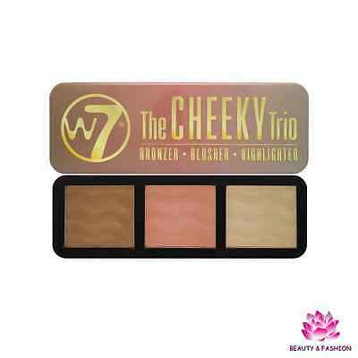 W7 Cheeky Trio Palette Contouring Bronzer / Blush / Enlumineur Highlighter Neuf