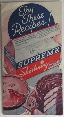 Vintage Supreme Shortening Recipe Booklet                (Inv12826)