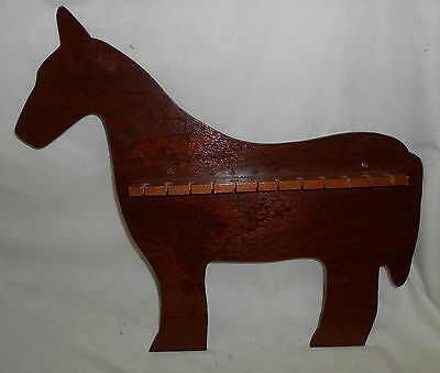 Vintage PIPE or SPOON STAND Rack CHARMING Holder SOLID OAK Wooden WOOD HORSE