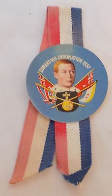Edward VIII Coronation Favour/Lapel Ribbon Badge/Sml Rosette 1937