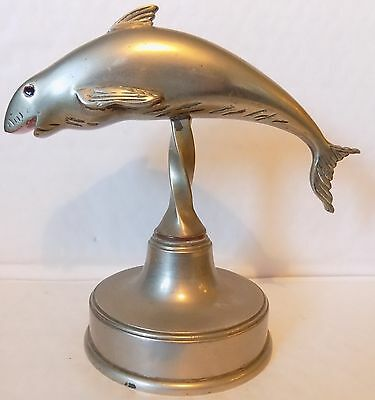 Leaping Fish(Salmon?) Ornament,Possibly Car Bonnet/Hood Mascot/ Desk Paperweight