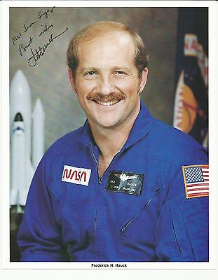 Astronaut Frederick H Hauck signed photo