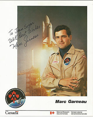 Astronaut Marc Garneau - Canada.STS-41-G  STS-77  STS-97   signed photograph