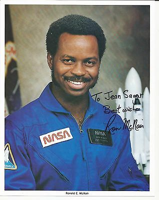 Astronaut Ronald E McNair signed photo  STS-51-L.