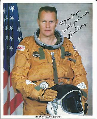 Astronaut Robert F Overmyer (Late)  STS-5, STS-51-B  signed photograph