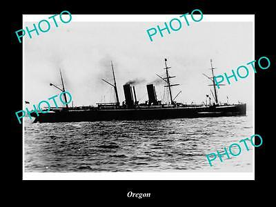 OLD LARGE HISTORIC MERCHANT SHIP PHOTO OF THE STEAMSHIP SS OREGON c1920s