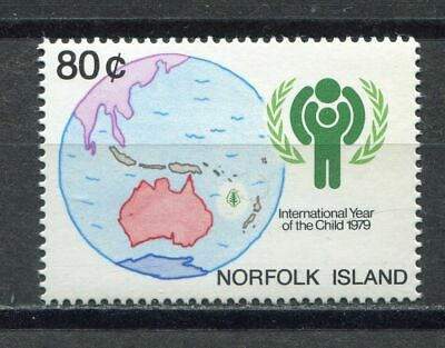 18277) NORFOLK ISLAND 1979 MNH** Nuovi** Map of Pacific 1v