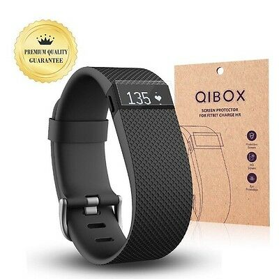 Fitbit Charge HR Screen Protector (10-Pack) - QIBOX Premium Clear Shatterproo...