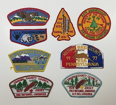 Mixed lot of 8 vintage BSA patches -- OA & CSP's. All for one bid!!