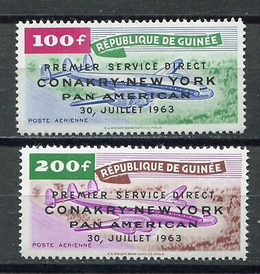 27411) GUINEA 1963 MNH** Nuovi** 1st Pan American air service