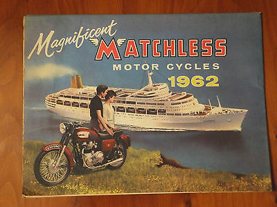 Magnificent MATCHLESS Motor Cycles 1962 folded brochure