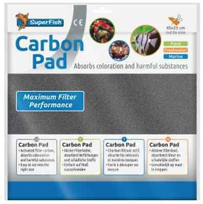 SuperFish Filter Media Carbon Pad 45x25cm Replacement Sheet Cut To Size