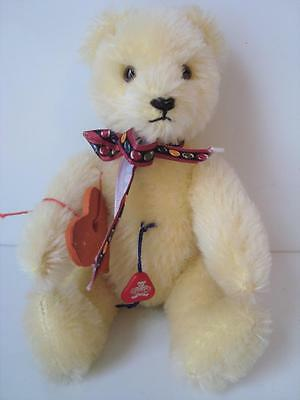 """Clemens Teddy Bear MINIATURE German Mint w/tag 7"""" Yellow Mohair Classic Jointed"""