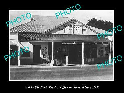 OLD LARGE HISTORIC PHOTO OF WILLASTON SA, THE STORE & POST OFFICE c1935