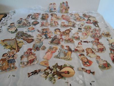 Large Collection Of Unusual Victorian Style Decoupage Cut Outs
