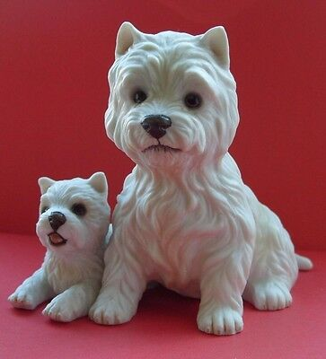 2 West Highland Terriers By Royal Osborne Hand Painted