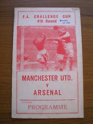 Manchester United v Arsenal 1961/2 FA Cup Pirate