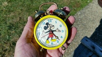 Vintage Phinney-Walker Mickey Mouse Alarm Clock West Germany - Working!