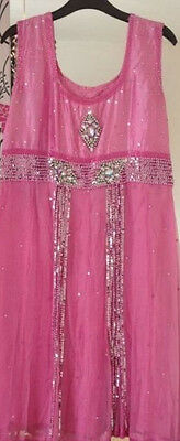 Ladies asian indian wedding churidar pink size 8 - 10