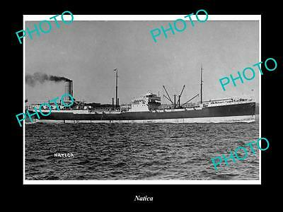 OLD LARGE HISTORIC MERCHANT SHIP PHOTO OF THE STEAMSHIP SS NATICA c1920s