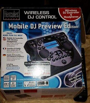Hercules mobile dj preview edition - wireless - headphones - boxed - software