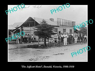 OLD LARGE HISTORICAL PHOTO OF DONALD VICTORIA, VIEW OF THE JEFFCOTT HOTEL c1910