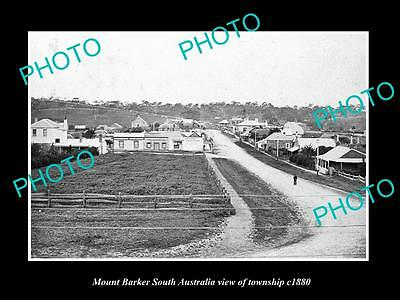 OLD LARGE HISTORIC PHOTO OF MOUNT BARKER SA, VIEW OF THE TOWNSHIP c1880