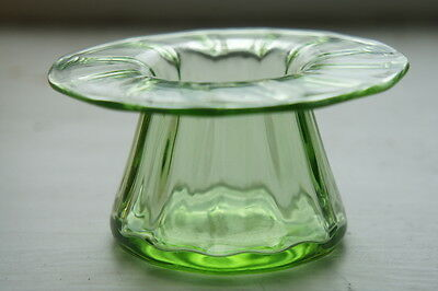 Antique Stuart art glass Art Deco wide rim posy vase 1920s
