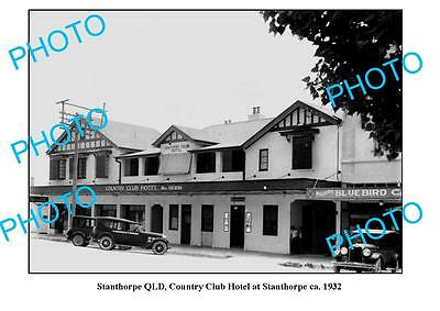OLD LARGE PHOTO, STANTHORPE QUEENSLAND, COUNTRY CLUB HOTEL c1932