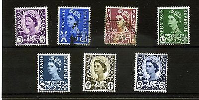 Gb.wales.7 --1958/67 Mounted Mint/used Stamps On Stockcard