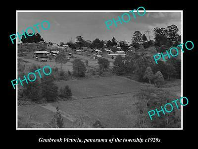 OLD LARGE HISTORIC PHOTO OF GEMBROOK VICTORIA, PARORAMA OF TOWNSHIP c1920s