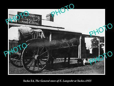 Old Large Historic Photo Of Yacka South Australia View Of The General Store 1925