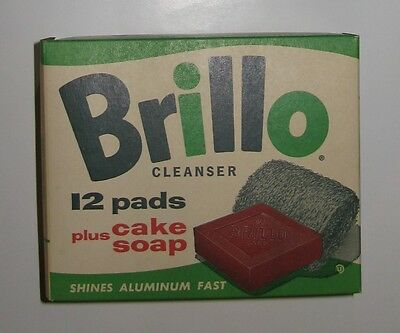 VINTAGE BRILLO BOX - 12 PADS + SOAP - Unopened & Great Condition