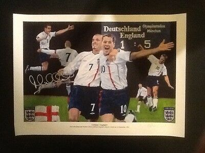 Signed Limited Edition Print 137/500 Signed by Michael Owen (England 5-1)