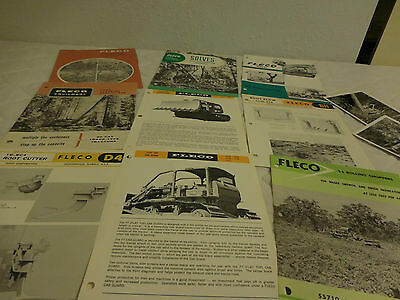 (12) 1960's FLECO LAND CLEARING EQUIPMENT SALES BROCHURE & PHOTOS LOT
