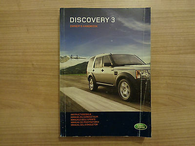 Land Rover Discovery 3 Owners Handbook Manual 04-09