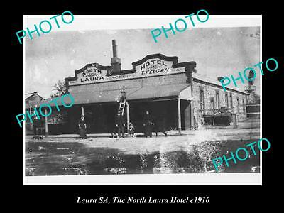 OLD LARGE HISTORICAL PHOTO OF LAURA SA, VIEW OF THE NORTH LAURA HOTEL c1910