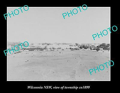 OLD LARGE HISTORIC PHOTO OF WILCANNIA NSW, VIEW OF TOWNSHIP c1899