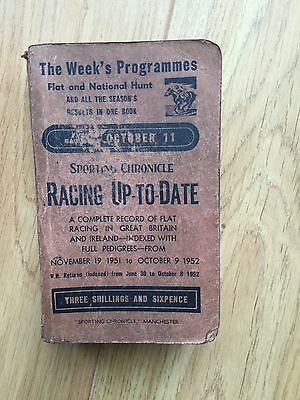 Racing Up - To - Date Flat And National Hunt.1952.