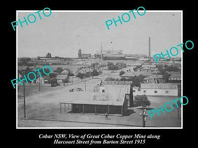 OLD LARGE HISTORICAL PHOTO OF COBAR NSW, THE GREAT COBAR COPPER MINE c1915