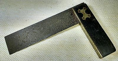 Vintage CARPENTER SQUARE Ebony & Brass
