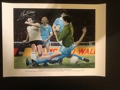 Signed Limited Edition Print 5/500 Signed by Ricky Villa (1981 FA Cup Final)
